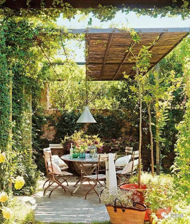 工匠艺术!花园廊架,花箱,木栅栏
