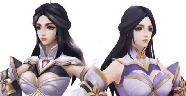 王者荣耀:新版露娜紫霞仙子和旧版对比,胸变大了,颜值