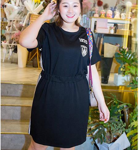130斤胖人女孩穿衣搭配,连衣裙怎么可以少图片