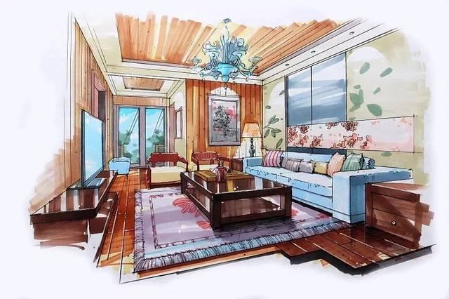 马克笔主要适用于: 景观设计,室内设计,建筑设计,服装设计,动漫设计