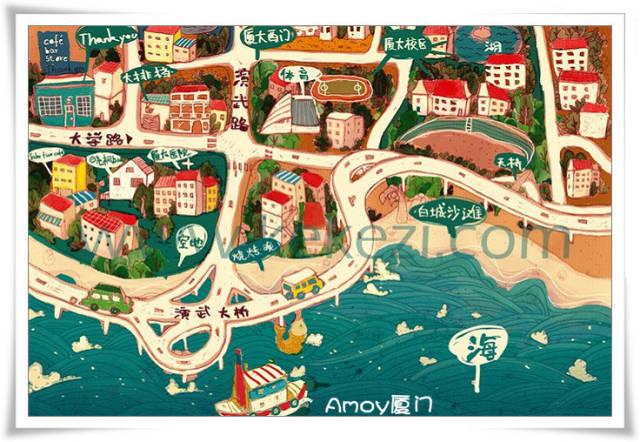 厦门各大景点手绘地图及景点介绍-旅游频道-手机搜狐
