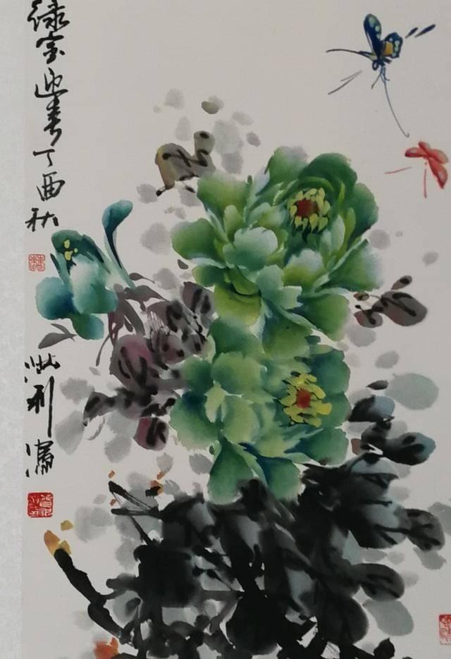 当代实力派花鸟画家曹洪利先生写意牡丹画欣赏