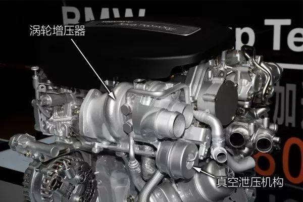 例如,n系列的真空泄压阀到了b系列上改为了电控泄压,同时,排气歧管也图片