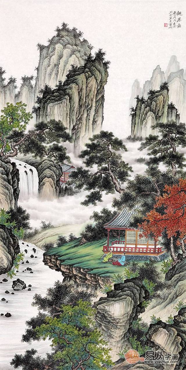 中国当代值得收藏的国画山水画精品,精湛艺术震撼心灵图片