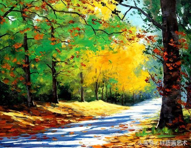 这组印象派的风景绘画美翻了,大自然的魅力尽收眼底!