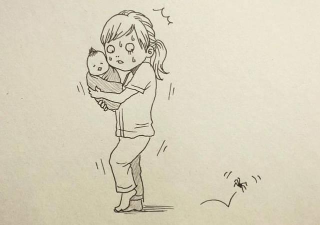 手绘速写母亲妈妈