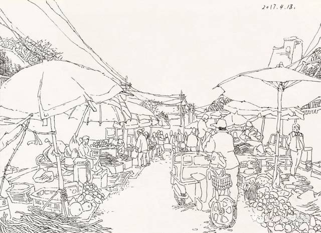 地图 简笔画 手绘 线稿 640_466