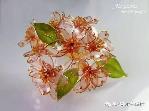 铁丝还可以编出花花,这是我见过最美的做法 (附教程)