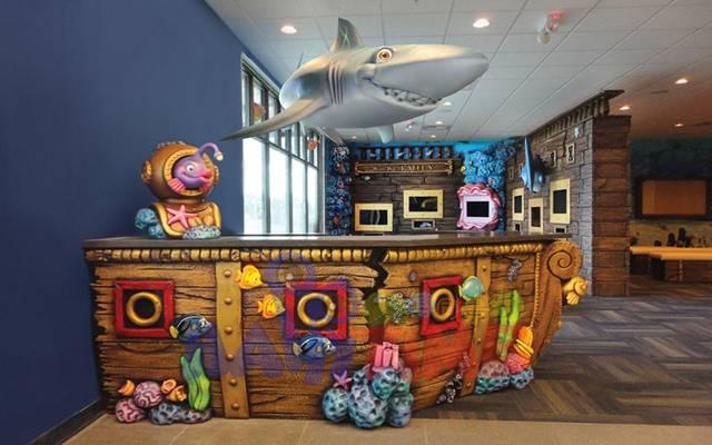 10款儿童口腔医院吧台设计童心满满,如果非要选出最佳图片