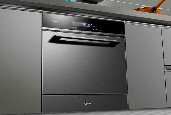 直接在水槽处安装,但是水槽洗碗机一般容量较小,适合后期改装厨房的图片
