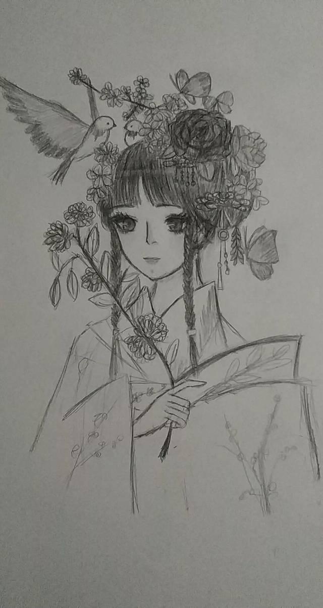 动漫手绘图片水笔