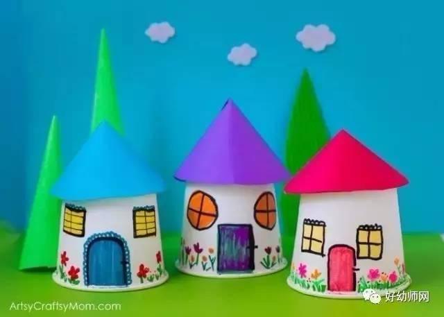 幼儿园创意手工制作——纸杯迷你村庄:幼师家长收藏哦