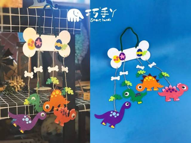不织布风铃系列 幸福兔兔风铃 不织布风铃系列创意作品,制作上有趣而