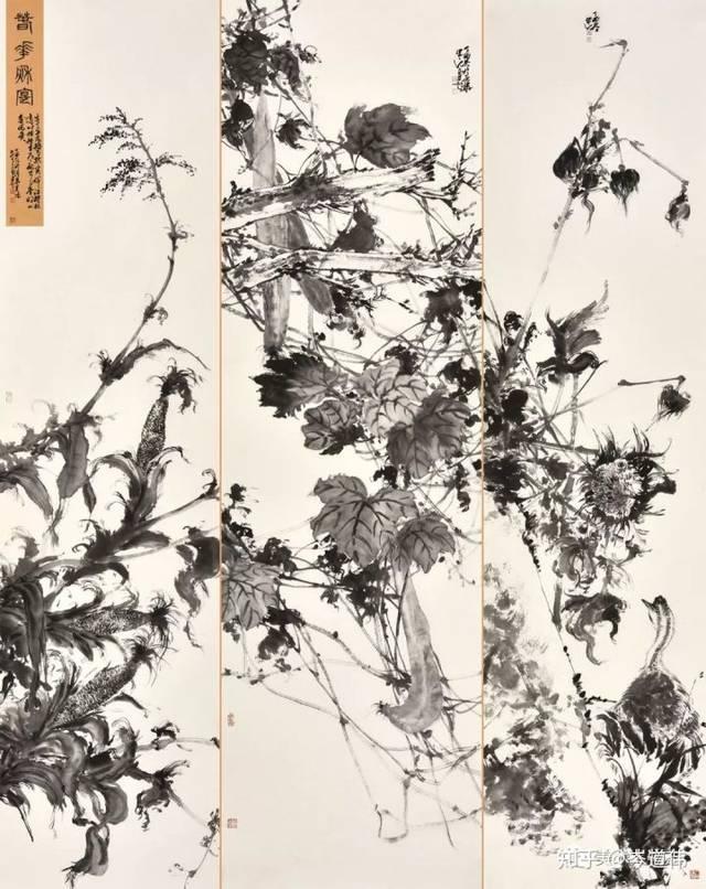 2017作品《春华秋实》入选尚意2017全国中国画(写意)作品展(中国美协图片