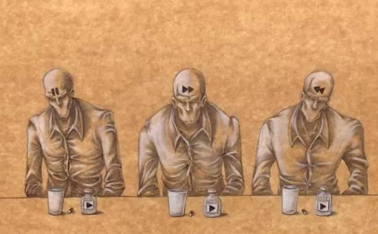 恶魔影子手绘图片