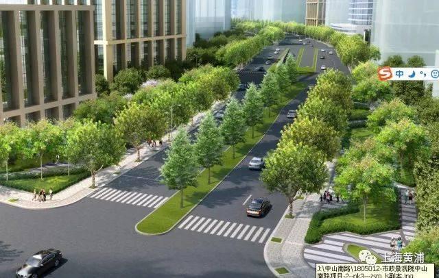 人行道,绿化隔离带,地下车道以及街角绿地的有机结合.