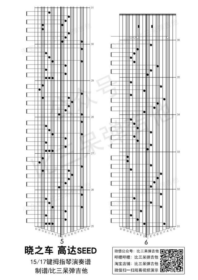 拇指琴演奏的版本相对清新婉转,有种八音盒的感觉.图片