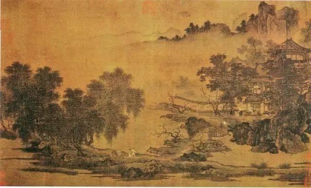 《四景山水图》古画背景及原地浅谈图片