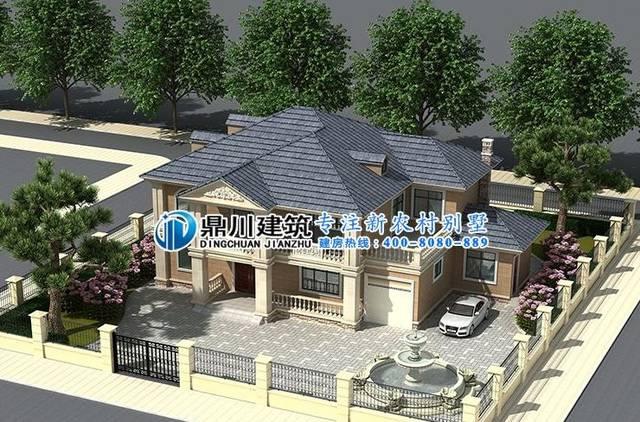 拥有这8款二层带庭院农村别墅,院子+车库+大露台,才是图片