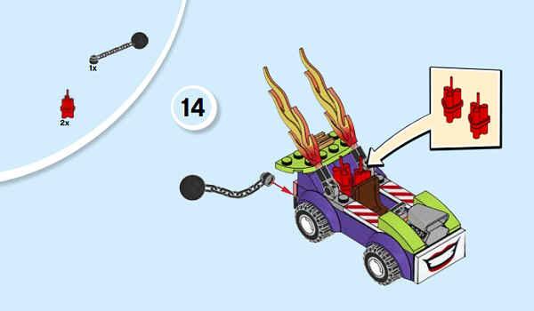 """用乐高拼装""""火焰战车"""",只需4个步骤,再现小丑蝙蝠侠世纪大战"""