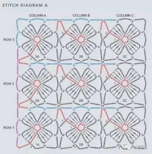 四叶草连续花型钩针编织教程,学会它,围巾披肩都可以搞定图片