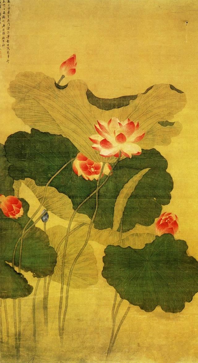 5厘米 广东省博物馆藏 此图水墨画荷花.图片