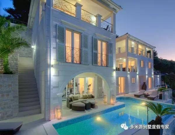 伊帕尔别墅是海景a别墅的海滨别墅,位于克罗地亚的布拉奇岛上,是栋三层布里斯班照片一座别墅图片