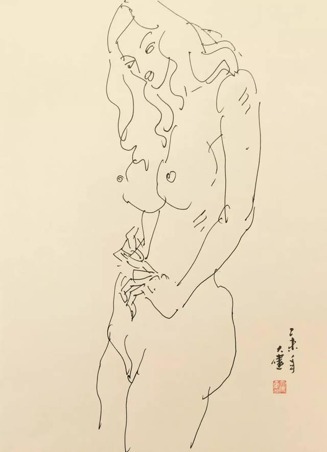 深圳城市手绘线描