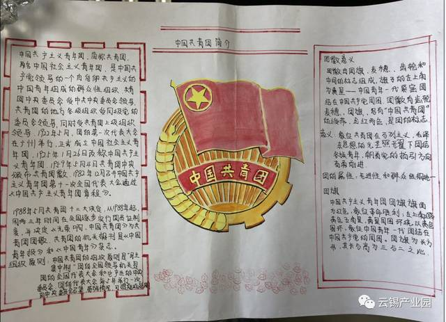 铜业分公司团支部以绘制手抄报形式宣传共青团十八大精神