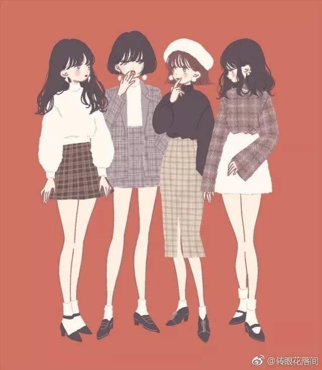 【栗栗苏の完美小姐进化班】小清新少女手绘,喜欢满满