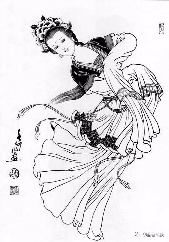 【邀您欣赏】刘公华白描仕女图精选38幅!