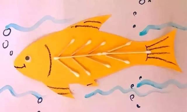 【棉签手工】7款幼儿园创意手工棉签玩法