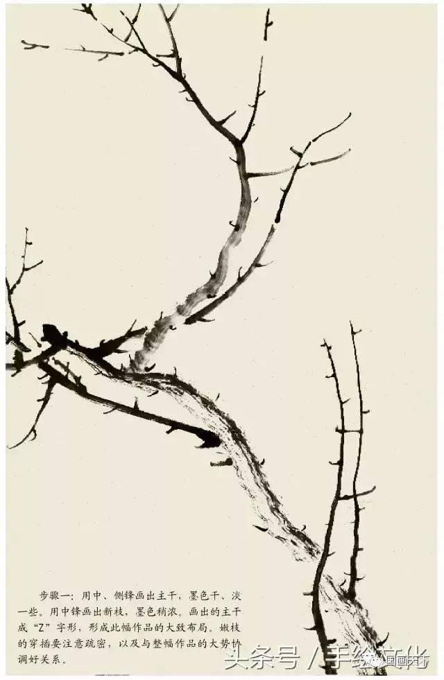 中国画入门教程——梅花的画法,简单实用!图片