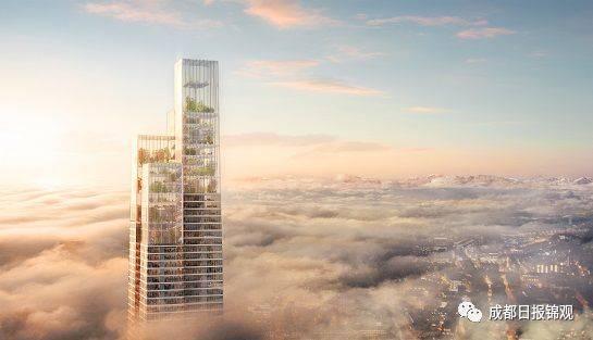 垂直公園的設計如飄帶纏繞上升,寓意打造新的增長極