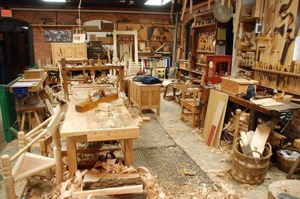 木工坊,从事传统木匠手工制造加工的工场,用于手工体验及木制家具