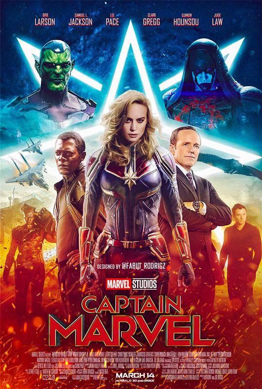 《惊奇队长》将于2019年上映,饭制版海报已经到了以假