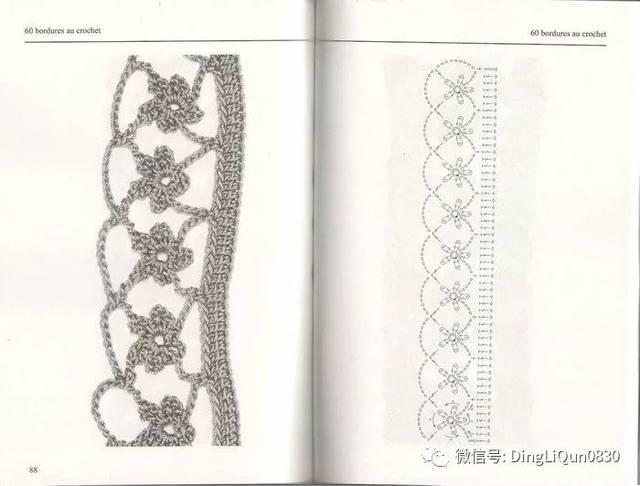 【编织图解】花边,方格,单元花等多款方案图解