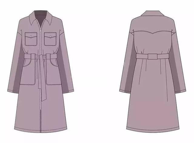企业服装设计| 工业款式图!(正背面+绘制步骤教程)图片