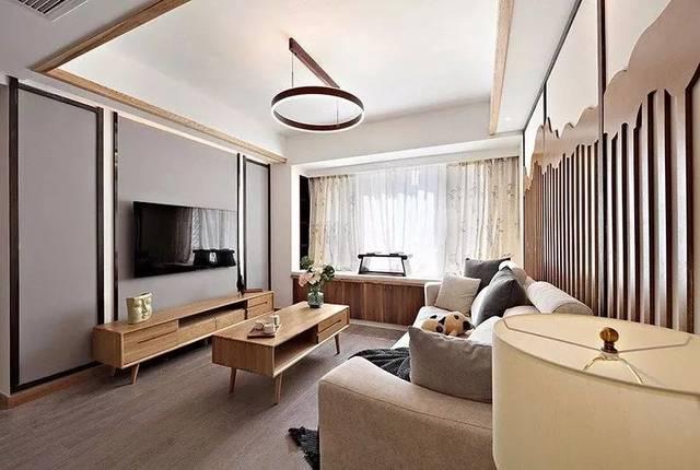 简单又有韵味的89平新中式三居,喜欢这个沙发背景墙图片
