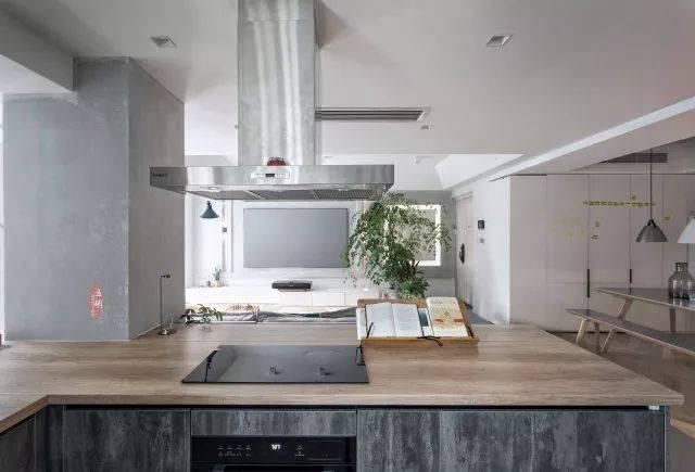 水泥风厨房效果图大全