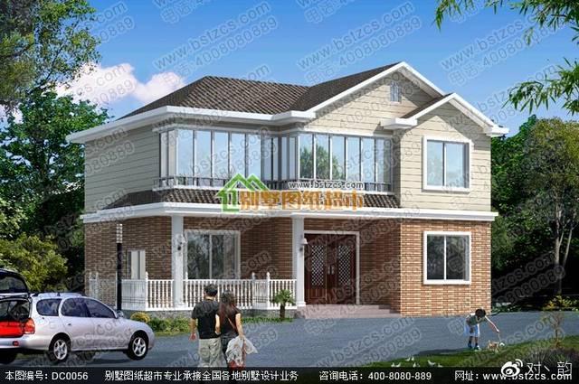 二层小别墅设计外观效果图及施工图纸