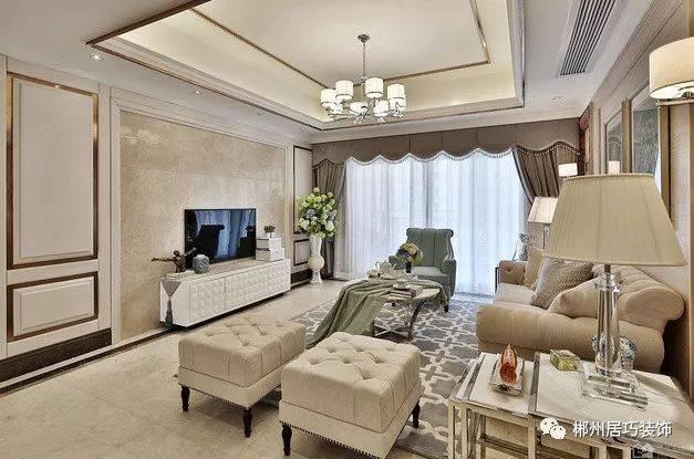 【装修赏析】简欧风格装修效果图 这样的简欧客厅设计