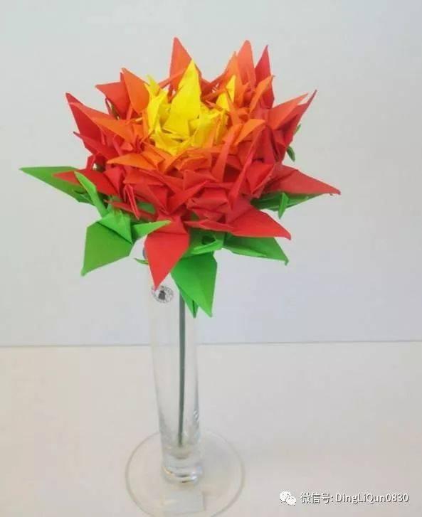 【折纸手工】7种精美的千纸鹤的做法及其它作品欣赏