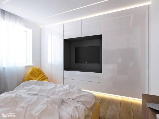 反而体现出少有的精致 客,餐厅电视背景墙的木饰面 同样沿用到了卧室