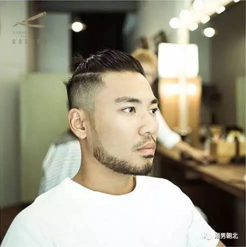 一款丸子头发型 络腮胡,man性十足,帅气非凡,小哥哥们难道不想剪一个图片