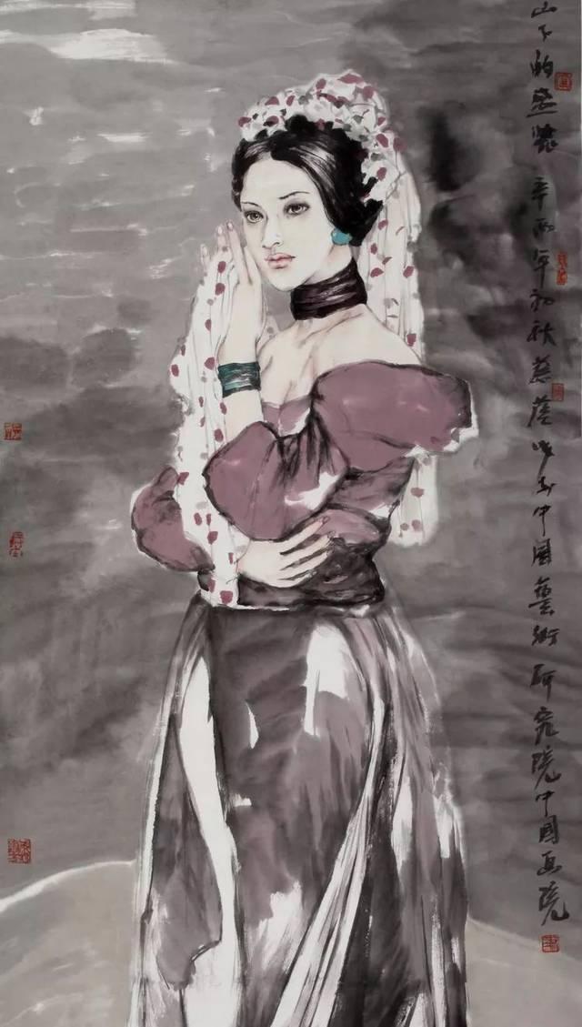 灵秀之美|蔡葵现代水墨人物画赏析