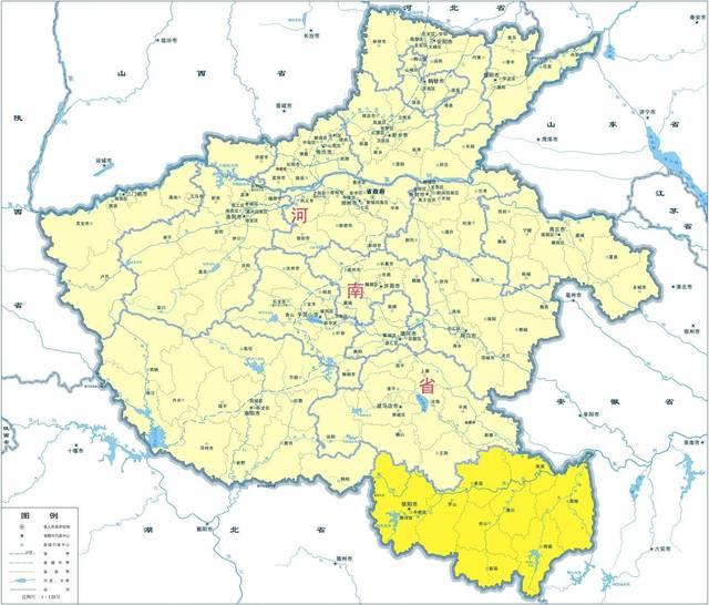 信阳市为何属于河南省,而不划给湖北?图片