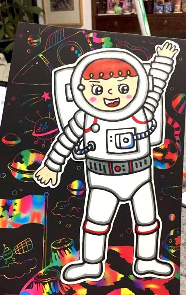 小央美儿童美术:儿童画创意丨一起去遨游太空(精选)图片