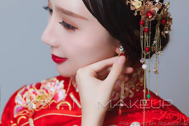 中式新娘妆容造型图片