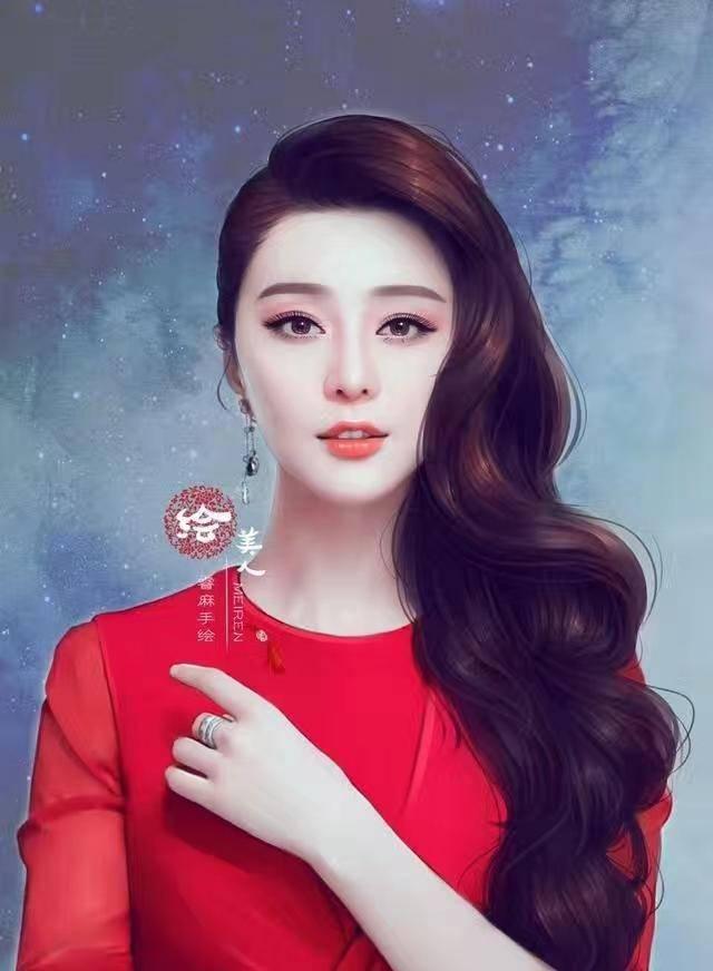 范冰冰赵丽颖景甜杨幂迪丽热巴刘亦菲等明星手绘画,哪个最惊艳?